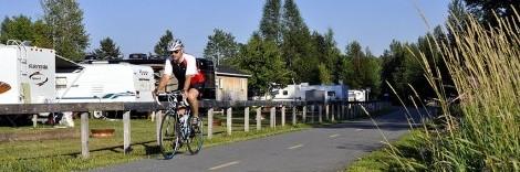 DOMAINE BELVAL : au moins pour le vélo